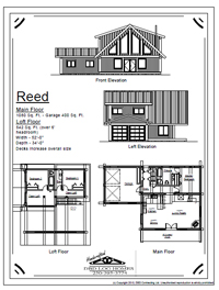 reed log home stock plans