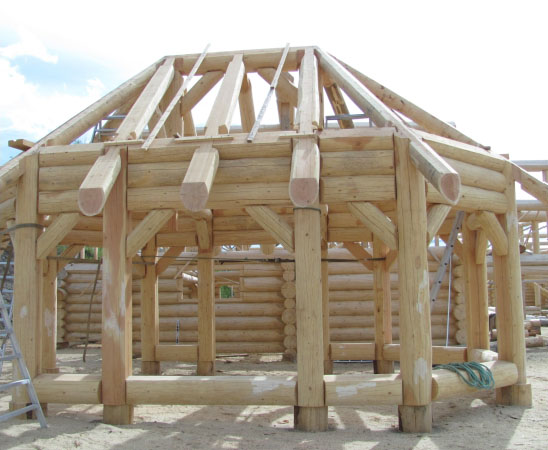Log home products dbd log home builders in canada for Home hardware gazebo plans