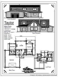 taylor log home stock plans
