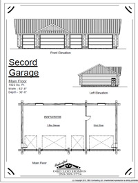 second garage log home stock plans