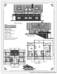 sinclair log home stock plans