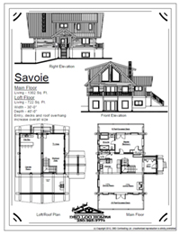 savoie log home stock plans