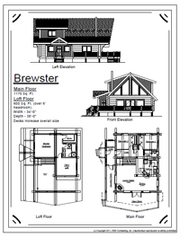 brewster log home stock plans